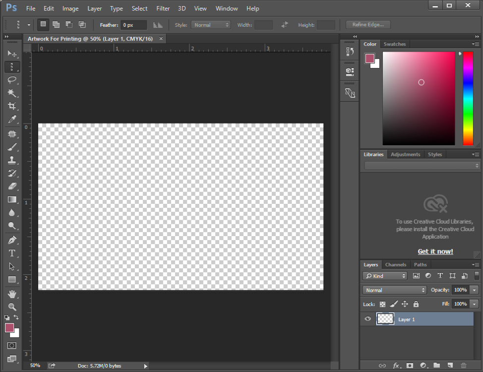 Chuẩn bị file thiết kế trên Photoshop – tạo file in đúng chuẩn