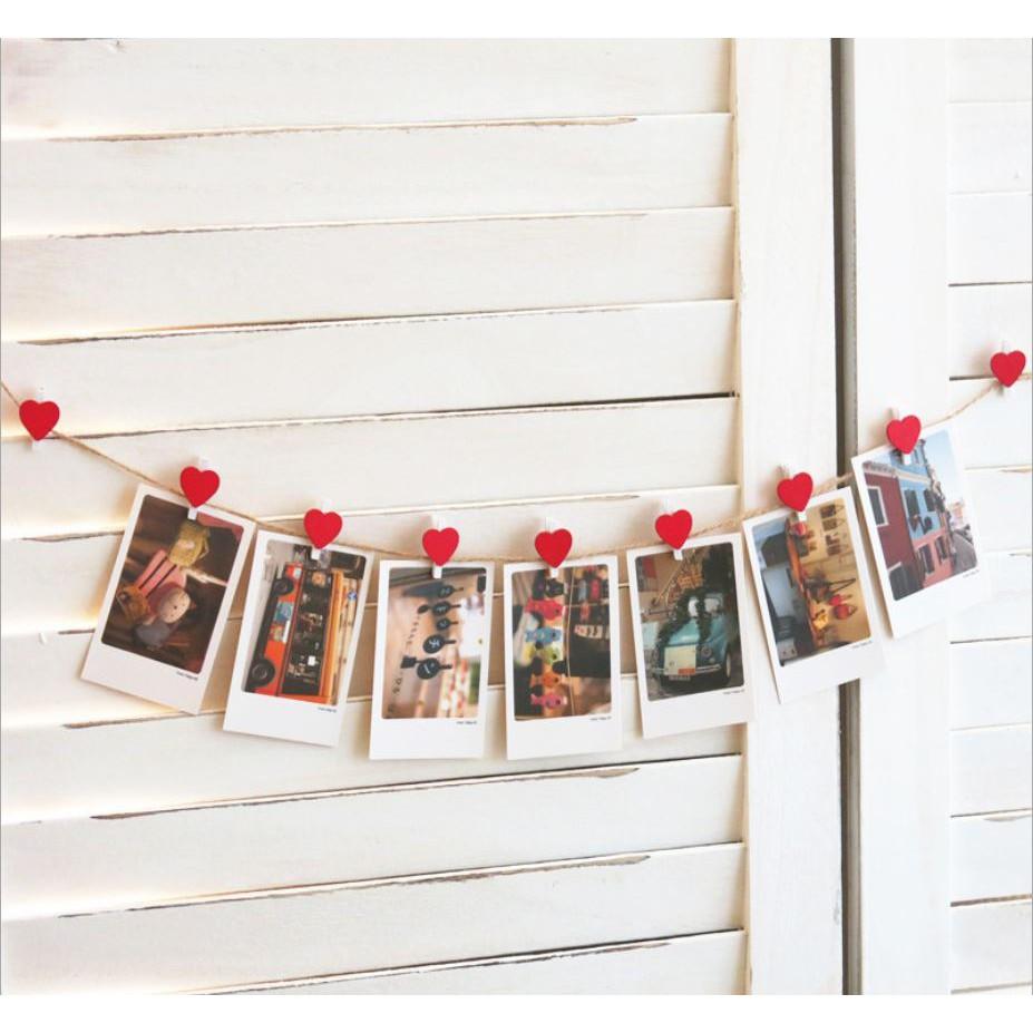 In ảnh treo tường và 7 cách trang trí ảnh với dây