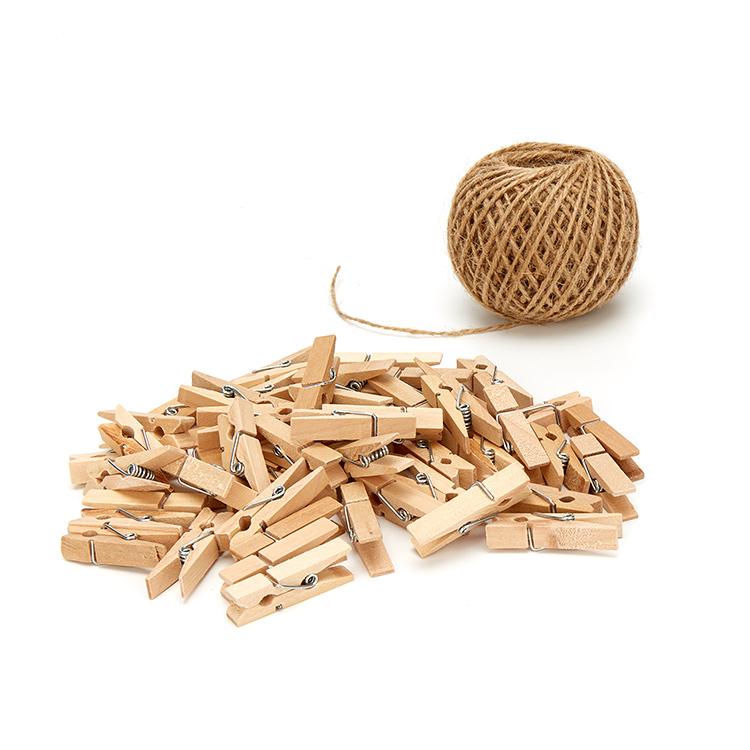 Kẹp gỗ treo ảnh trơn