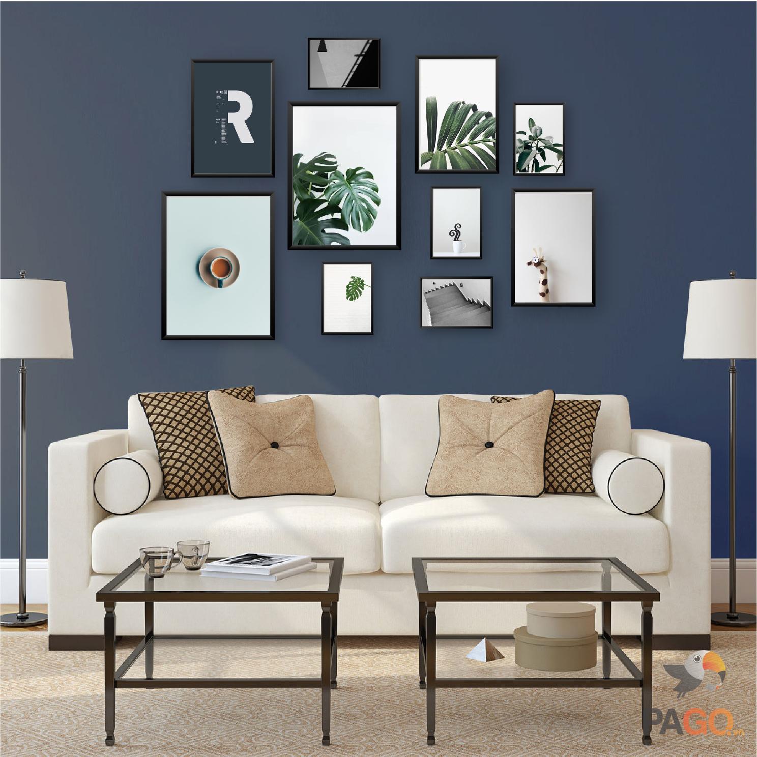 Combo 10 khung ảnh gỗ trang trí nghệ thuật kèm hình – C10-302013