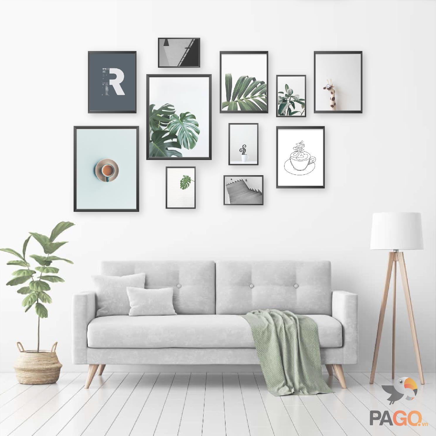 Combo 11 khung ảnh gỗ trang trí nghệ thuật kèm hình – C11-30251310