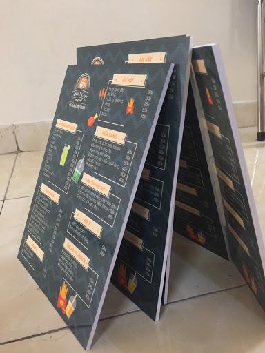 In menu tờ rời – PP cán Formex