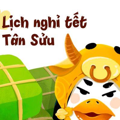 Lịch nghỉ Tết Tân Sửu tại Pago.vn